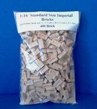 1:16 Scale Diorama Accessories  ( 400 ) UK Standard Size Imperial Bricks in buff