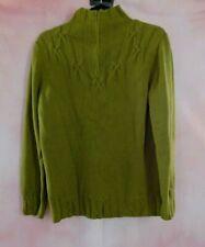 Coldwater Creek Women's 1/4 Zip Knit Sweater Size Medium Olive Green