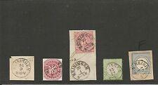 Th & T / MEININGEN 5 feinst-Kabinett-Stücke, dabei je kl. K1 auf Pr. 24