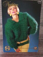 """Sirdar Knitting Pattern: Ladies Mohair Sweater, 28-38"""", 8114"""