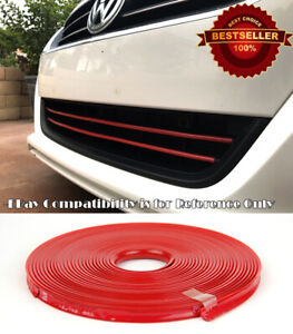 Red Rubber Overlay Trim Cover For Ford Chevy Dodge Upper Lower Grille Air Dam