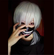 Hot Anime Tokyo Ghoul Kaneki Ken Short Straight Hair Full Wig Hairpieces Cosplay