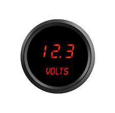 """52mm 2 1/16"""" Digital VOLTMETER Intellitronix RED LEDs Black Bezel Life Warranty!"""