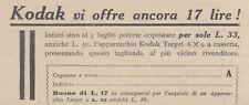 V0865 Apparecchio KODAK Target 6 x 9 - Pubblicità d'epoca - 1933 old advertising