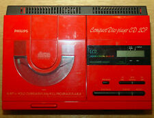 Philips CD207 Vintage CD-Player in Rot