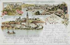Gruss aus Passau Litho 1899 Moch&Stern Felle