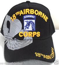 MILITARY CAP 18TH AIRBORNE ARMY  BLACK HAT