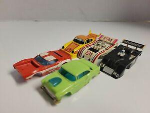 Lot of runner aurora afx slot car bodies 55 chevy Porsche javelin