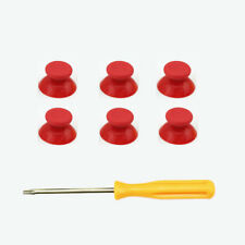 6 Pcs Red Custom Thumbsticks Mod Buttons For Xbox 360 Controller & screwdrvier