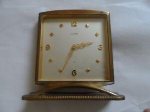 Old Vintage Luxor 8 Swiss Brass Desk Table Clock. Not Working.