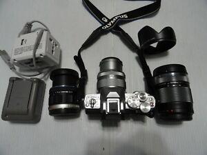 Mint Olympus OM-D E-M10 Mark III 16.1MP Camera w/ 3 lens14-42mm+9-18mm+14-150mm