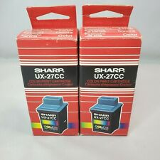 Genuine Sharp UX-27CC Colored Ink Print Cartridge New Sealed - Lot of 2