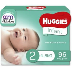 Huggies Infant Nappies Size 2 (4-8kg) - 96 Pack