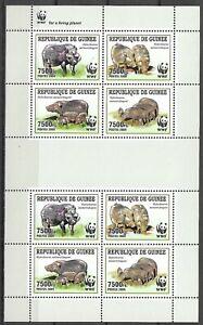 Guinea 2009 WWF Wildlife Fauna Tiere Dieren Animals Forest Hog compl. MS MNH
