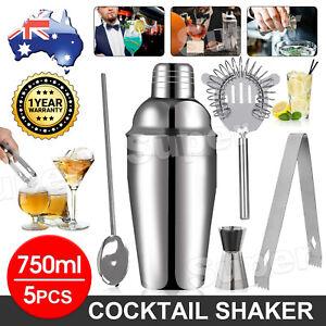 Cocktail Shaker Set Maker Mixer Martini Spirits Bar Strainer Bartender Kit 750ML