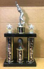 "Baseball 2 Stars Double Marble Base 14.75"" x 7.5"" x 3"" Trophy"