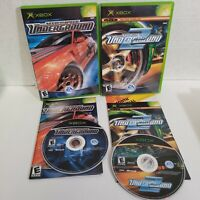Lot of 2 - Need for Speed Underground 2 Original XBOX - Street Racing Games CIB
