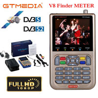 Digital GTMEDIA V8 Satellite Finder Meter DVB-S2 3.5 inch LCD HD 1080P Satfinder