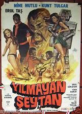 Yilmayan Seytan {Mine Mutlu} Sci-Fi Turkish Original Movie Rare Poster 70s