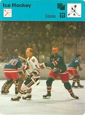 "BOBBY HULL 1978 Sportscaster card #50-03 CHICAGO BLACKHAWKS ""Sticks"""
