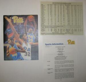 Univ. Pittsburgh Panthers 1987-88 Basketball Yearbook Charles Smith Jerome Lane