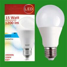 8x 15W LED GLS A60 ES Edison E27 6500K Cool White Lamp Light Bulb 1200Lm 230V