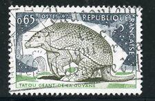 STAMP / TIMBRE FRANCE OBLITERE N° 1819 / FAUNE / TATOU GEANT DE LA GUYANE