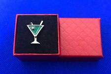 Martini Glass Lapel Pin Bartender Pin Cocktail Brooch (choose from 2 Colors)