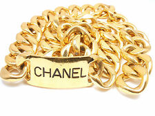 GORGEOUS VINTAGE AUTHENTIC CHANEL EXTRA LARGE CHUNKY GOLD TONE BELT/ NECKLACE
