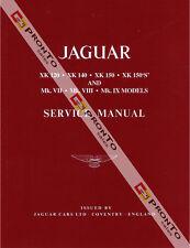 FACTORY WORKSHOP SERVICE REPAIR MANUAL BOOK JAGUAR XK 120 140 150S MK VII VII IX