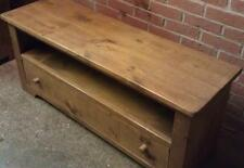 "SOLID WOODEN 42"" TV STAND CABINET ENTERTAINMENT UNIT RUSTIC PLANK PINE FURNITURE"