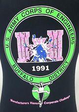 Vintage Marathon T-Shirt Mens Medium 1991 US Army Corps of Engineers Michigan