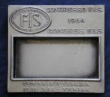DISTINTIVO PIN BADGE PASS CONGRESSO F.I.S. VENEZIA 1964 COMMERCE DES SEMENCES
