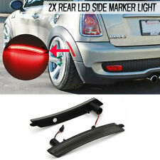 For 2007-2016 MINI Cooper Smoked Brilliant Red Rear Side Marker Lamps LED Lights