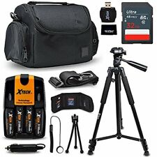 Xtech Accessories Kit for Nikon Coolpix L120 includes 32GB Memory, Case, Tripod