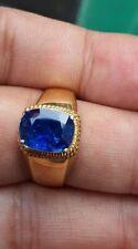 5Ct Cushion Sapphire Simulant Diamond Rope Filigree Ring White Gold Finsh Silver