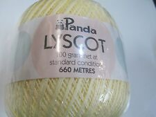 PANDA LYSCOT COTTON NO 8 100GRS 3 BALLS CREAM NO 107