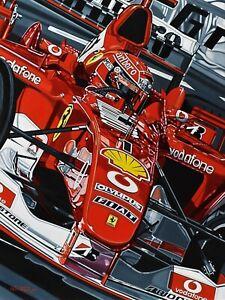 Michael Schumacher F1 90 x 70 cms limited edition  art print by Colin Carter