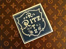 RITZ HOTEL PARIS RARE VINTAGE LUGGAGE LABEL CIRCA 1930......MINT!!!