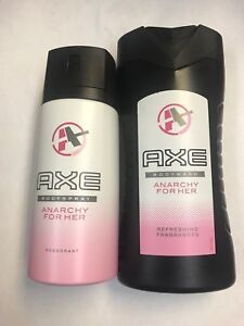 "AXE ""Anarchy For Her"" 2 Piece Body Spray 150 ml, Shower Gel 8.45 oz, GIFT SET"