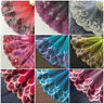 Embroidered Lace Trim Ribbon Colorful Floral Wedding Dress Sewing Applique