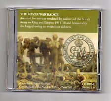CD ROM: THE SILVER WAR BADGE  1914-18