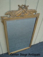 61269   Gold Decorator Mirror in Fancy Picture Frame