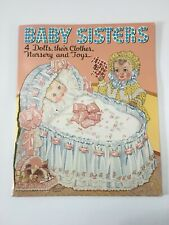 VINTAGE UNCUT 1938 BABY SISTERS PAPER DOLLS~#1 REPRODUCTION MADE IN 2001