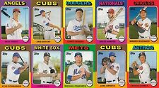 2016 Topps Mini COMPLETE 1975 (10) CARD SET Trout/Bryant/Seager/Schwarber Rookie