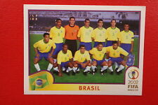 PANINI KOREA JAPAN 2002 # 169 BRASIL TEAM WITH BLUE BACK MINT!!!