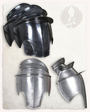 LARP 18GA Steel Medieval Knight SERAPHIM Pair Of Pauldrons