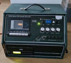 Coomber 2241- Stereo Cd/cassette Player Recorder tested working nice sound