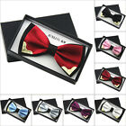 2016 Mens Cotton Satin plain Tuxedo Solid Bow Tie Formal Wedding Bowtie Necktie