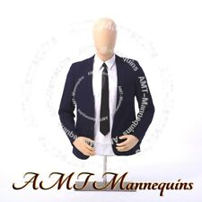 Male Torso Metal Stand Head Rotate Half Body Mannequin Dress Form Ymt 2ft